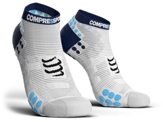 Compressport Pro Racing V3.0 Run Low Socks White/Blue